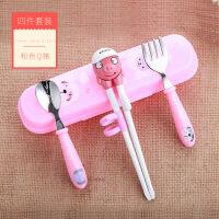【家装节 夏季狂欢】儿童筷子训练筷一段宝宝学习练习筷小孩家用吃饭勺子餐具套装男孩