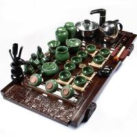尚帝 陶瓷茶具套装 祥云实木杯架-茶具茶盘套装XMBH2014-027A1