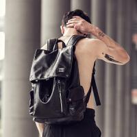 双肩包男士潮流背包男韩版旅行包时尚休闲学生书包电脑包潮