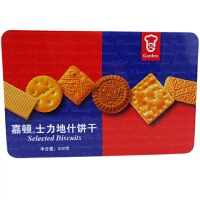 【包邮】嘉顿(Garden)士力地什饼干 500g 铁盒装 新年年货饼干