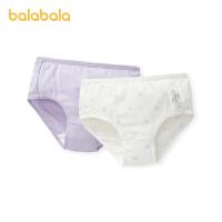 【3件4.5折:35.6】巴拉巴拉女童内裤三角棉儿童宝宝短裤中大童女小童时尚印花两条装