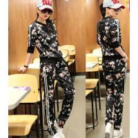 秋季韩版时尚运动服女装春秋套装卫衣装外套秋款韩国风休闲套装潮两件套