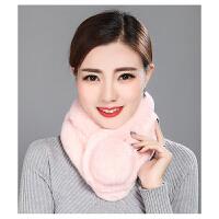 围巾女冬季 獭兔毛围脖皮草围巾女加厚保暖脖套韩版