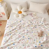 多喜爱双层纱空调被儿童全棉夏凉被纯棉夏季被芯薄被子彩虹小可爱0.9米床
