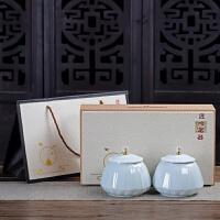 茶叶包装盒礼盒装定制空盒中号西湖龙井绿茶通用陶瓷密封罐茶叶罐