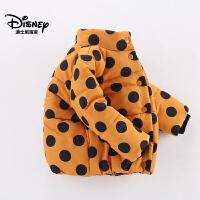 迪士尼宝宝森林小世界女童梭织时尚夹克棉衣2018冬款上新