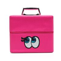 韩国眼睛化妆包双层多功能折叠手化妆箱大容量护肤品收纳箱盒袋