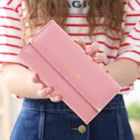 新款2018新款女士手拿钱包女长款可爱日韩版拉链多功能简约大容量皮夹