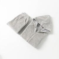 男女童天鹅绒卫衣套装秋装儿童运动衣服宝宝开衫外套裤子