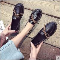 复古小皮鞋女新款韩版百搭学生原宿英伦风黑色平底单鞋女鞋子