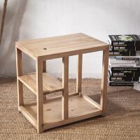 实木沙发边桌 杂志桌 边几 角几 小茶几 电话桌小方茶台移动茶几 60长40宽60高(颜色留言)