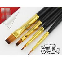 温莎牛顿黑杆水粉笔套装 尼龙画笔 水彩 丙烯画笔4只装7604