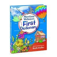 英文进口原版 Merriam-Webster'sFirstDictionary 麦林韦氏儿童初级插图字典