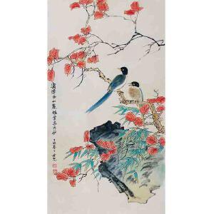 中国美术家协会会员 田世光《花鸟》DW07