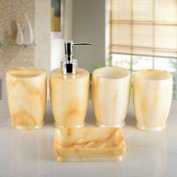 创意欧式结婚卫浴五件套浴室用品套件牙具卫生间漱口杯洗漱套装