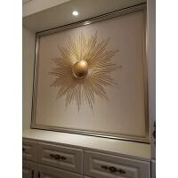 欧式铁艺家居壁饰墙上装饰品太阳花挂饰创意电视背景电表箱装饰品
