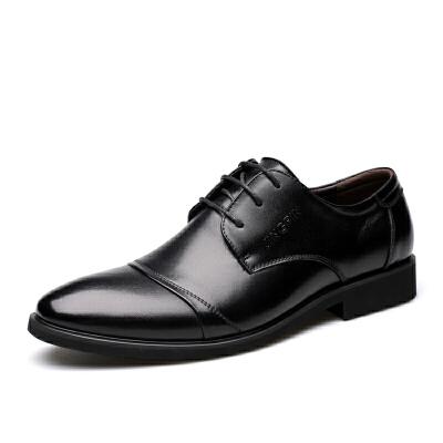 宜驰 EGCHI 正装皮鞋男士商务休闲时尚耐磨鞋子男 3665