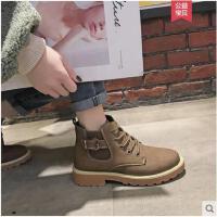 马丁靴女英伦风学生韩版百搭冬季新款chic短筒靴短靴女鞋子潮