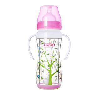 【当当自营】乐儿宝(bobo) 双层玻璃奶瓶220ml 红色IBP530-R