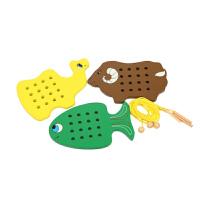 早教玩具蒙台梭利日常生活益智串线板幼儿园教具