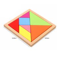 巧灵珑 木制玩具儿童玩具七巧板拼图�薨逡嬷窃缃躺俣�玩具3-6岁