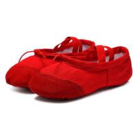 儿童休闲舞蹈鞋练功鞋软底女童幼儿跳舞皮头芭蕾舞鞋瑜伽猫爪鞋