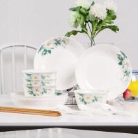 16头小家庭餐具 景德镇家用陶瓷碗盘碟套装 家用饭碗菜盘 可微波