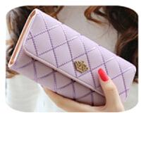 ?钱包女软皮2018新款时尚韩版女士长款钱包皇冠多卡位手拿皮夹卡包C?