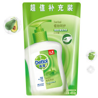 Dettol滴露 健康抑菌洗手液植物呵护450g 清爽植物香气