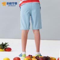 【两件1.3折价:26元】英格里奥童装夏装新款男童休闲短裤中大童学生裤子LLB571
