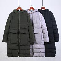 胖MM加大码女装冬装新款韩版气质修身棉衣外套中长款棉袄
