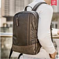 旅行背包电脑休闲韩版英伦学院风 男士双肩包男包学生书包户外