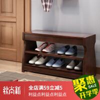 可坐鞋柜换鞋凳储物凳家用门口翻盖三层穿鞋矮凳