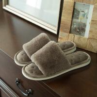 棉拖鞋女厚底冬季新款韩版可爱毛毛绒保暖室内防滑家居家用