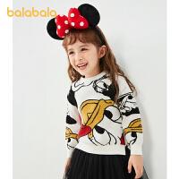 【迪士尼IP款】巴拉巴拉女童毛衣儿童上衣唐老鸭针织衫童装潮春秋款