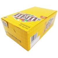 【包邮】德芙(Dove) MM豆 M&M豆 MMS豆花生牛奶巧克力豆整盒 黄色包装40gX24