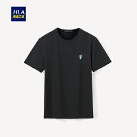 简约绣标款短袖T恤2019夏季新品圆领套头短T男