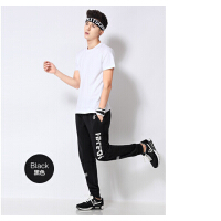 运动裤 男 长裤 修身 收脚  大码 跑步针织棉 卫裤 男士 运动