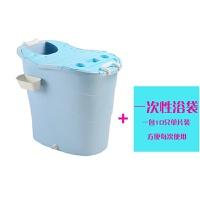 洗澡桶塑料泡澡桶婴儿游泳桶大人沐浴桶儿童浴盆大号加厚可坐