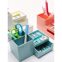 得力�P筒�r尚�n��小清新�W生可��ins文具收�{盒桌面�[件�k公室��性��意�P盒��s�和��U�P筒大容量�P桶多功能