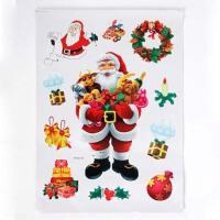大贸商 卡通圣诞老人贴纸组合 墙贴节日装饰Christmas SX10166