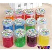12色整套水晶彩泥儿童节礼物荧光3D水晶彩泥diy材料 放屁泥 .