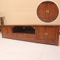 电视柜非洲新中式客厅落地矮柜全实木家具原木 整装