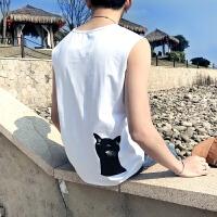 男士汗背心加肥加大码打底夏季潮胖夏季薄款青年韩版无袖体恤