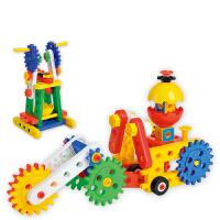 益智塑料积木 拼装工程提高动手能力