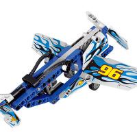 喷气飞机模型科技系列儿童益智拼插拼装小颗粒积木玩具二合一