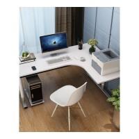 L型实木转角台式电脑桌书桌书架组合家用学生拐墙角书桌