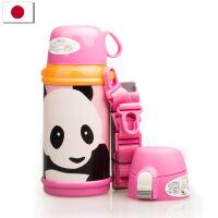 【当当海外购】日本进口CALDO 保温杯创意男女士真空不锈钢便携儿童保温壶600ml-熊猫