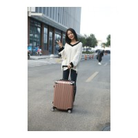时尚包角行李箱女韩版拉杆箱24寸纯色旅行箱包20登机密码皮箱子万向轮学生男女蓝色可商务