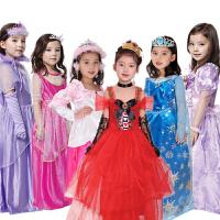 cosplay儿童女孩六一表演出服装 冰雪奇缘 爱莉丝公主服装